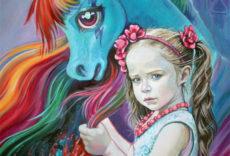 детский портрет на заказ с любимыми героями